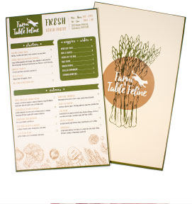 Menu Layout Front and Back